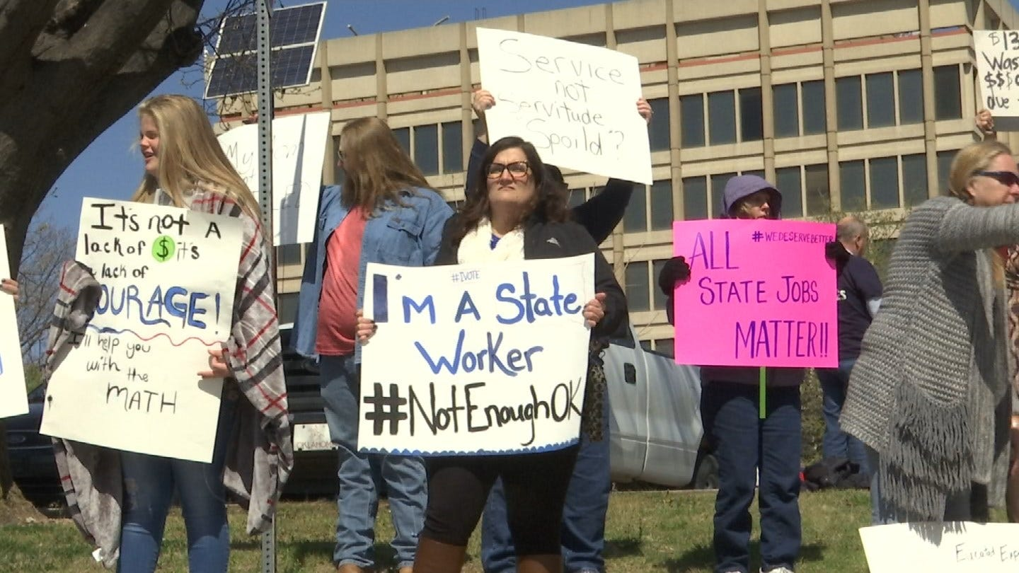 State Employees Rally For Change In Tulsa