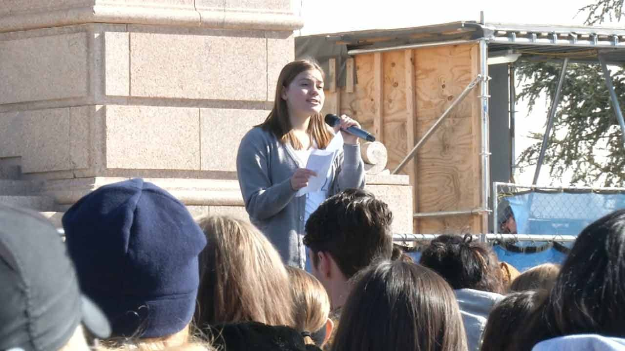 Students Join Teachers In Show Of Support At State Capitol