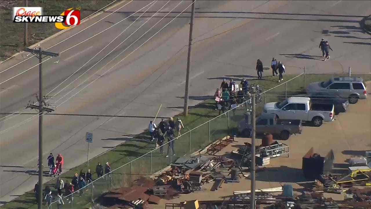 Teachers Walk From Tulsa To OKC Resumes