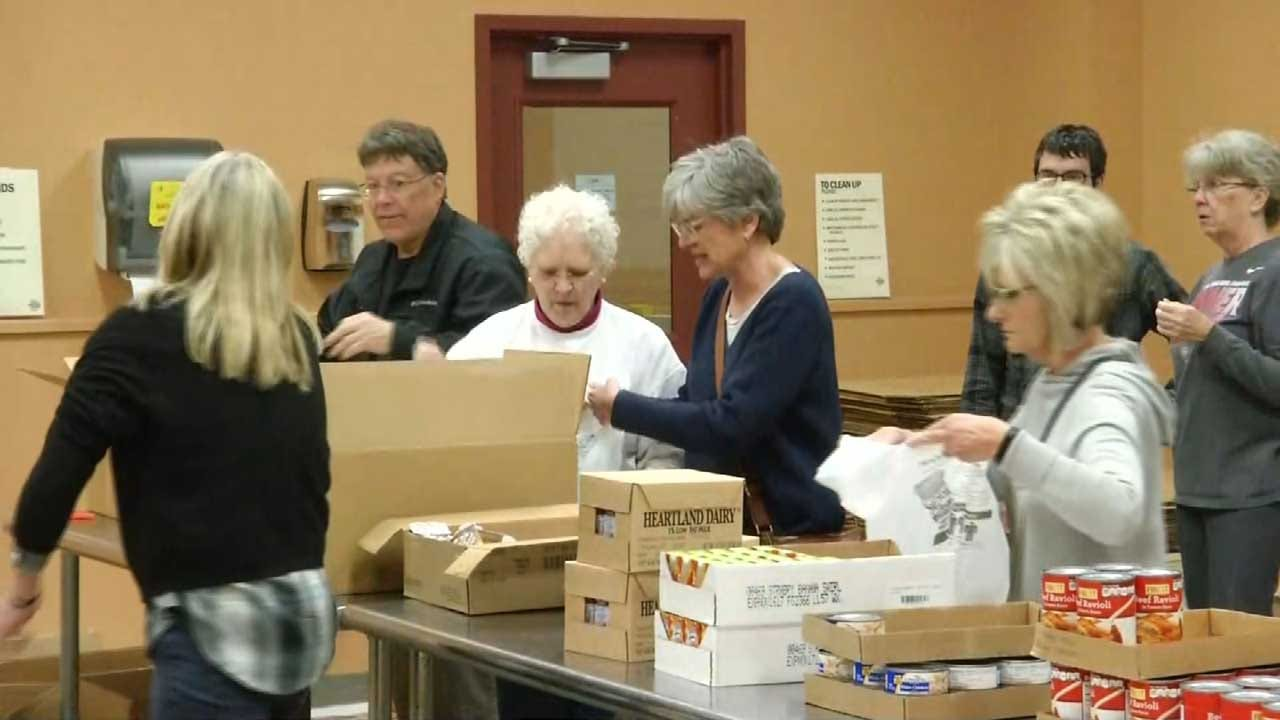 Volunteers Step Up To Help Food Bank Prepare Meals For Oklahoma Students