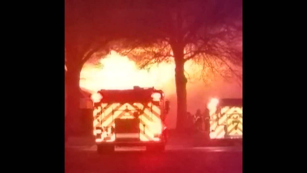 House Catches Fire Overnight In Broken Arrow
