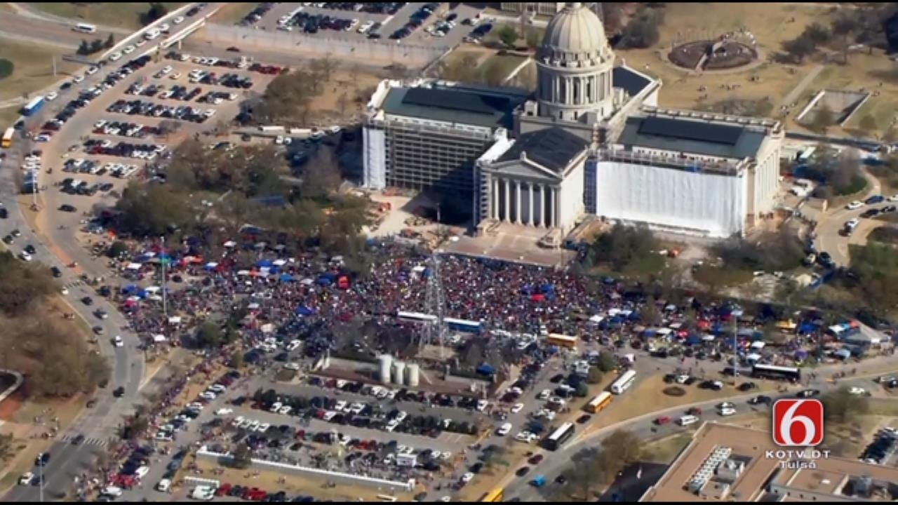 Day 6 Of Teacher Walkout Begins With Big Crowd At Capitol