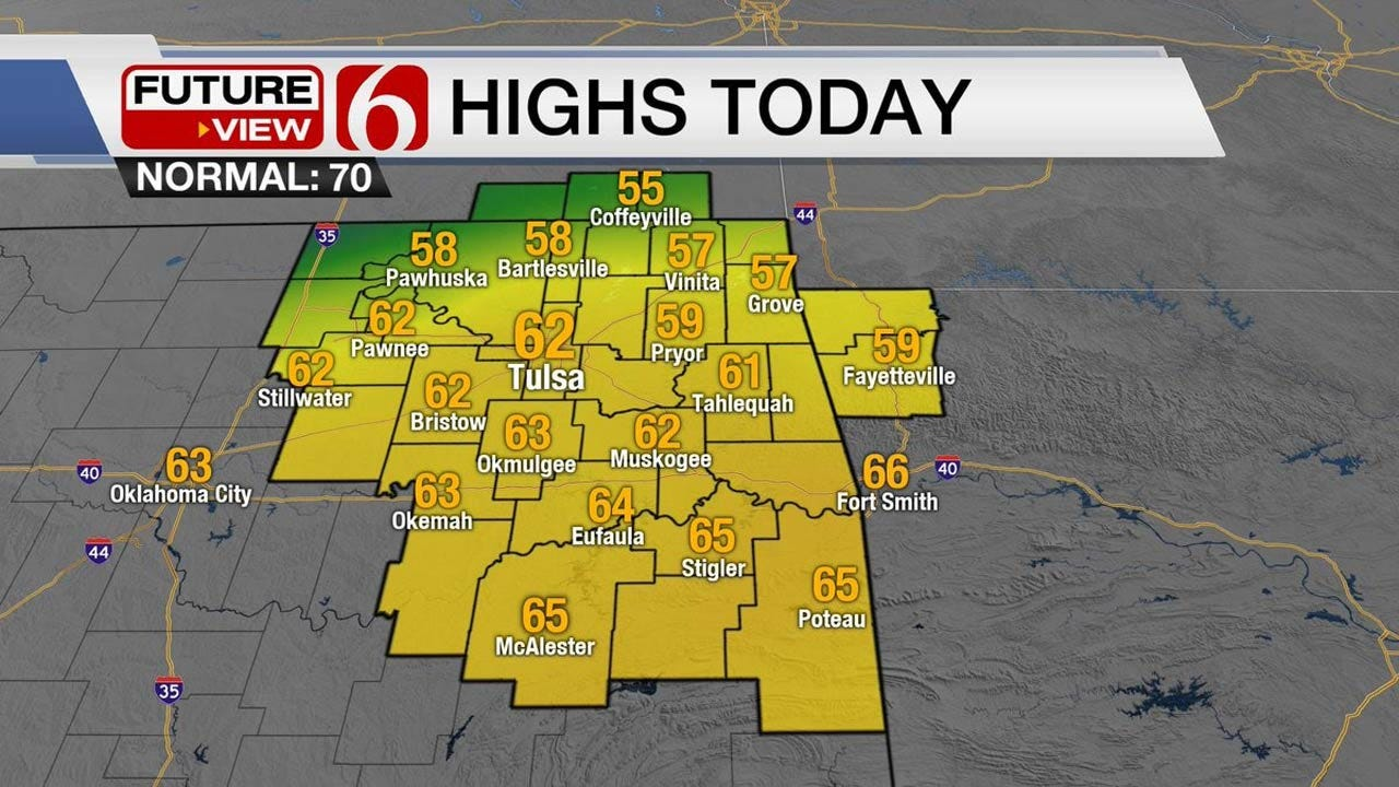 Warmer Temps Returning To Eastern Oklahoma