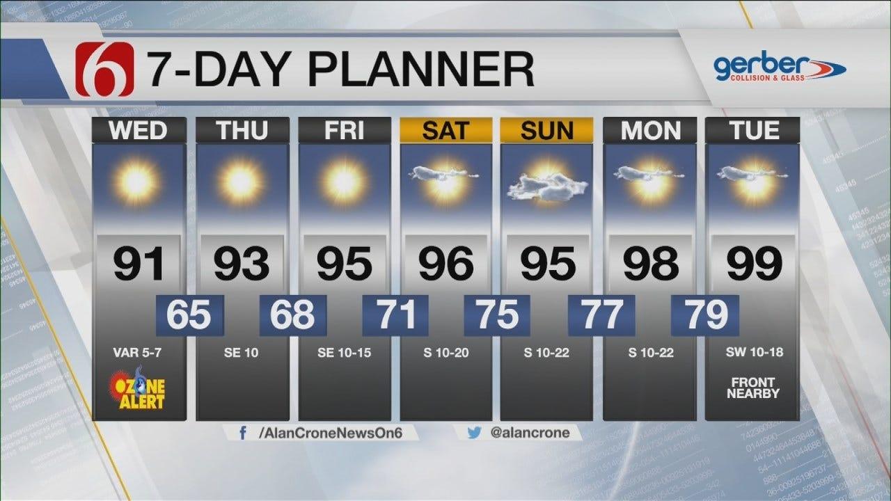 Ozone Alert Wednesday