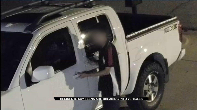 Car Break-Ins Caught On Camera In Tulsa Neighborhood