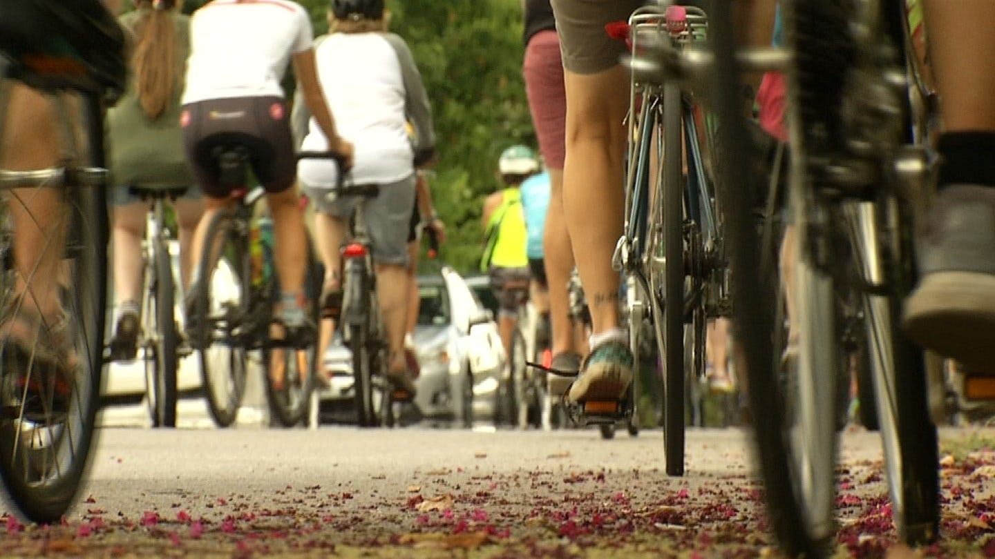 Friends Pay Tribute To Tulsa Cyclist With Memorial Bike Ride
