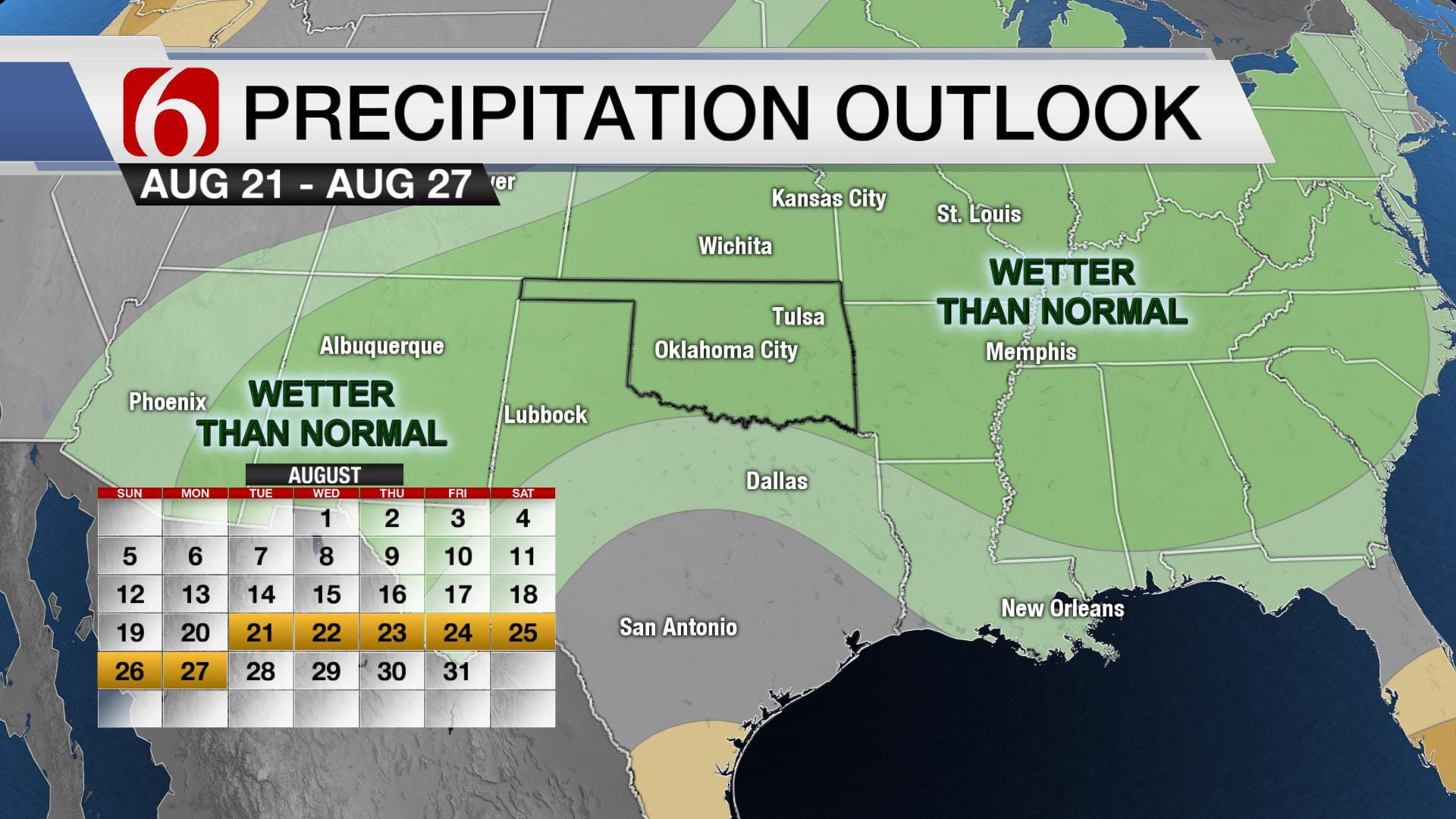 August Wet Spell Could Lead to Flooding