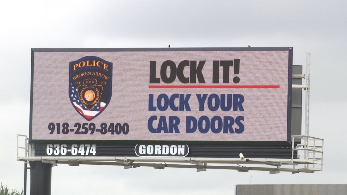 Billboards Going Up In Broken Arrow Urging People To Keep Cars Locked
