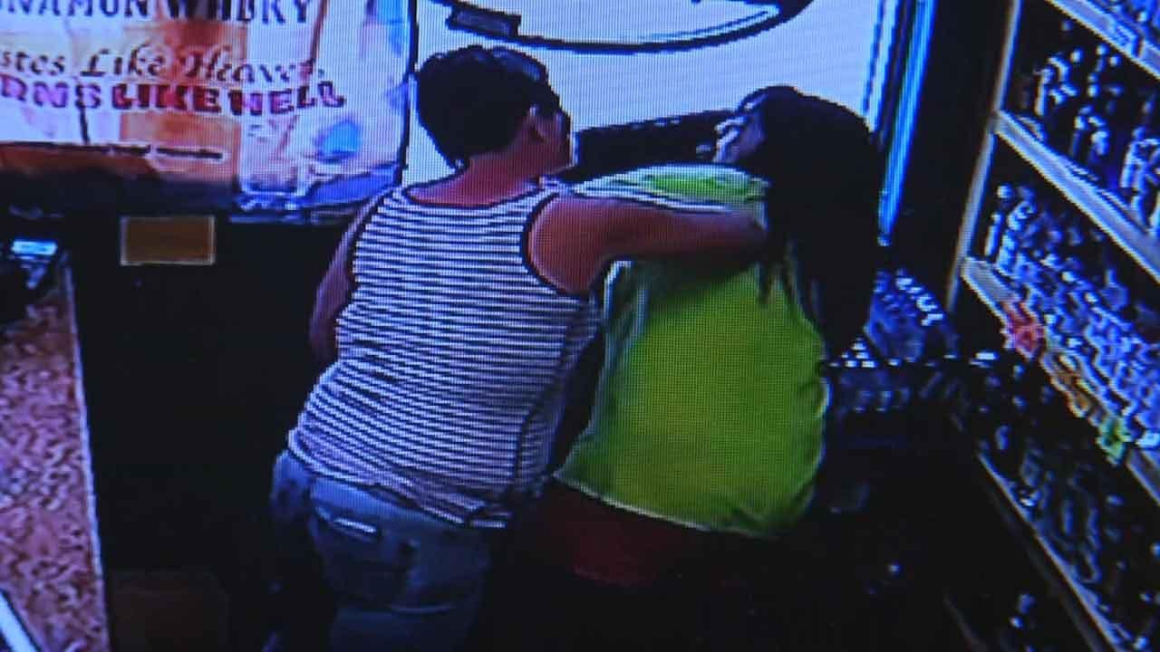 Customer Caught On Camera Assaulting Clerk At Sand Springs Liquor Store