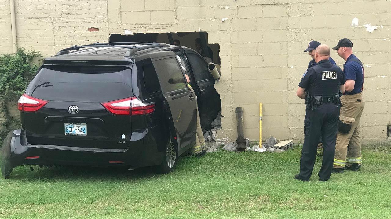 Family Van Slams Into Tulsa Church Building