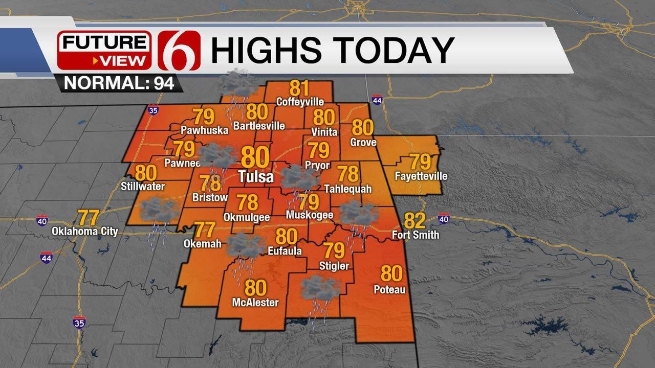Wet Start For Week Across Eastern Oklahoma