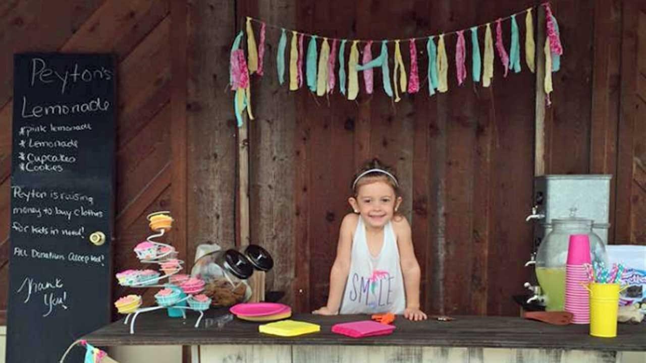Peyton's Lemonade Stand: Oklahoma Girl Raises Money For Foster Kids