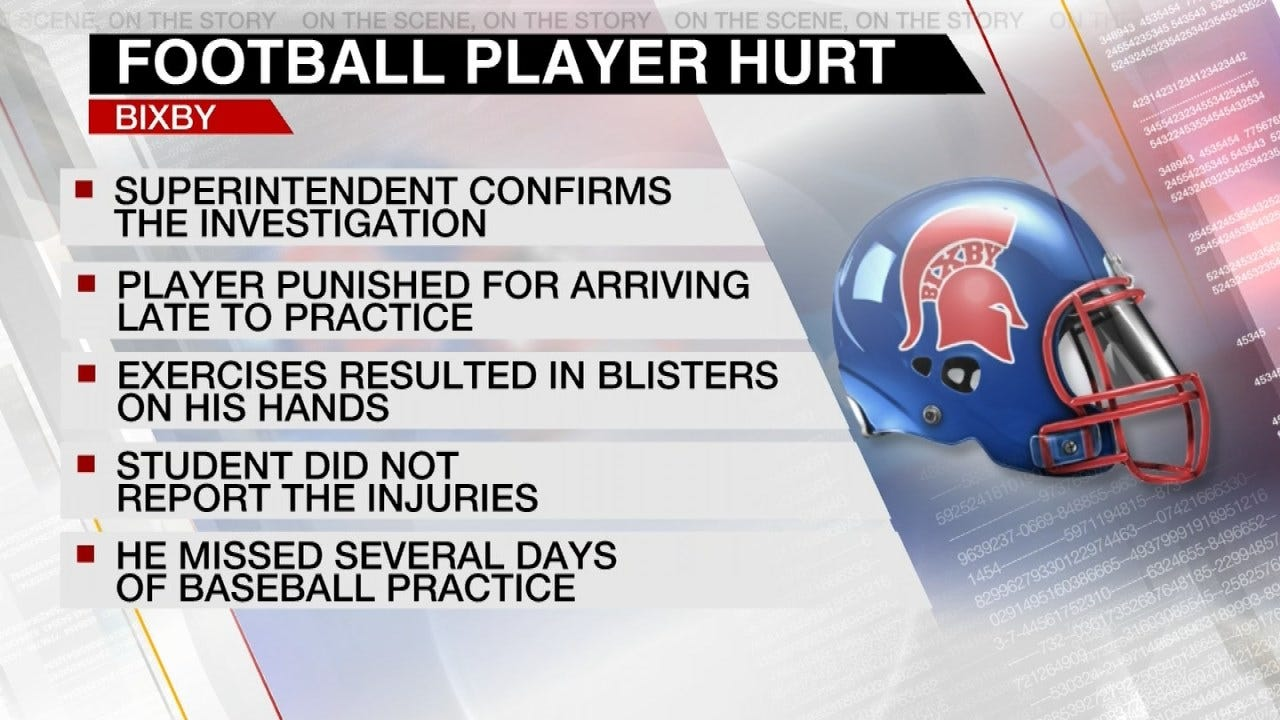 Bixby Schools Investigating After Student Injured During Football Practice