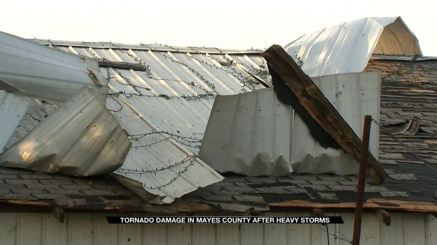 Mayes County Family Takes Cover As Possible Tornado Sweeps By House