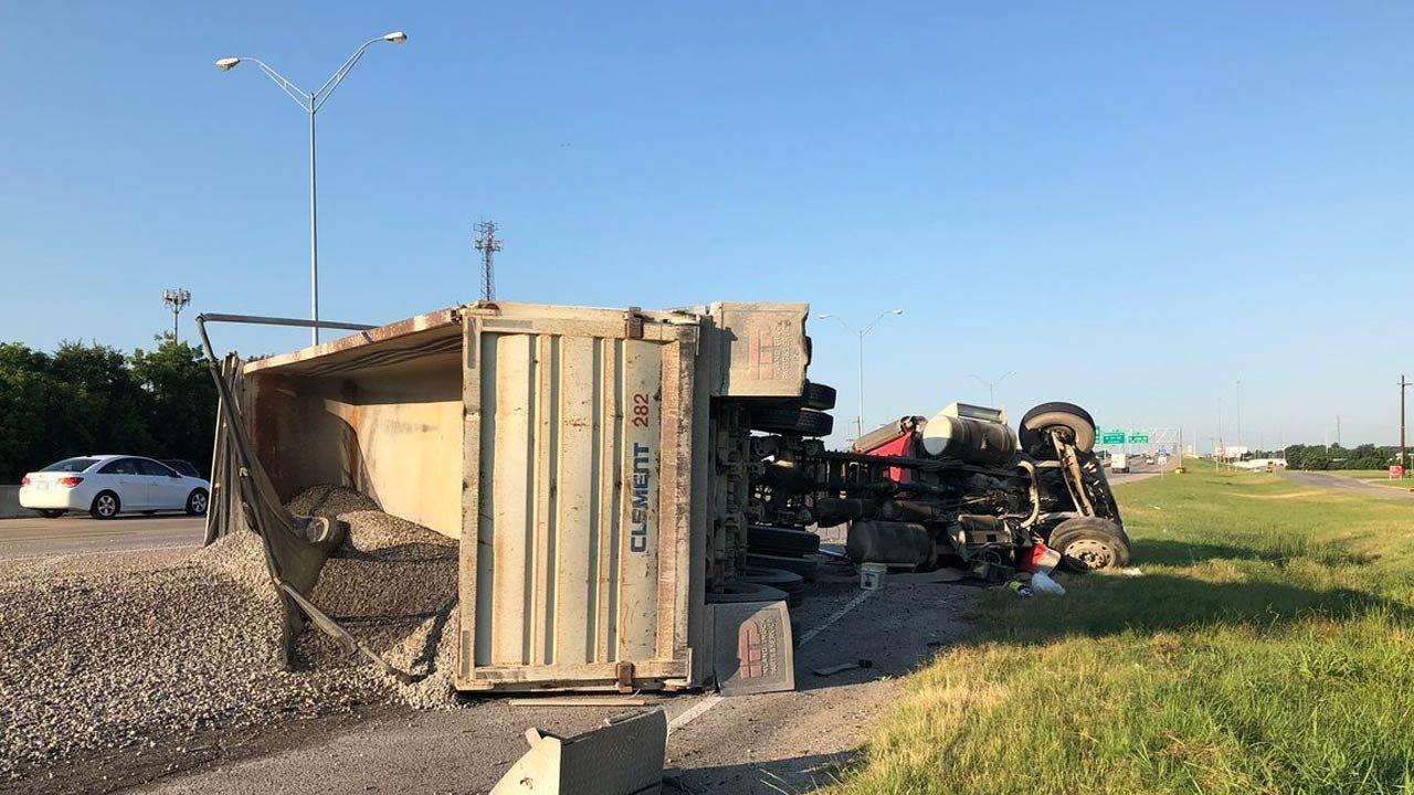 Dump Truck Wreck Shuts Down Tulsa Highway Ramps