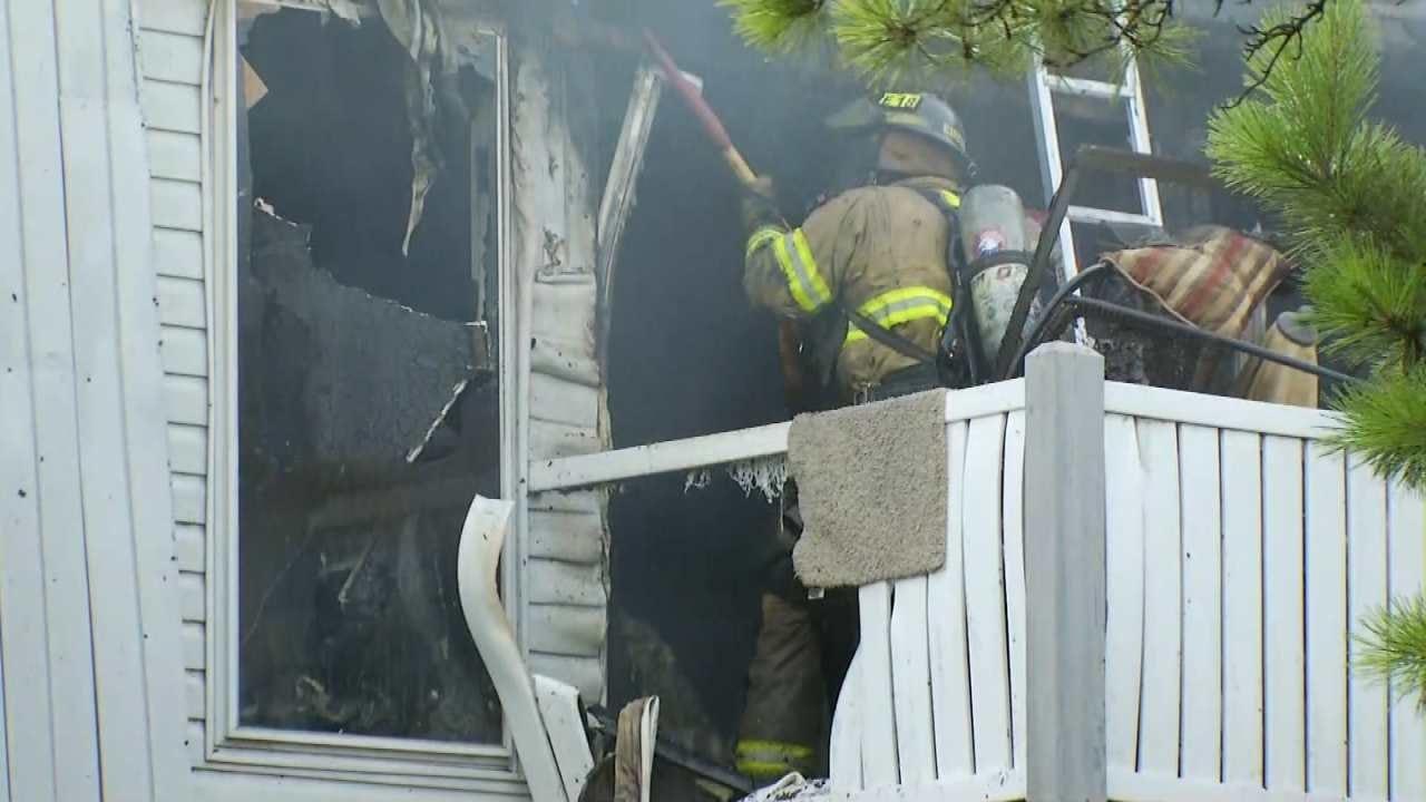 Fire Destroys Apartment at Tulsa Complex