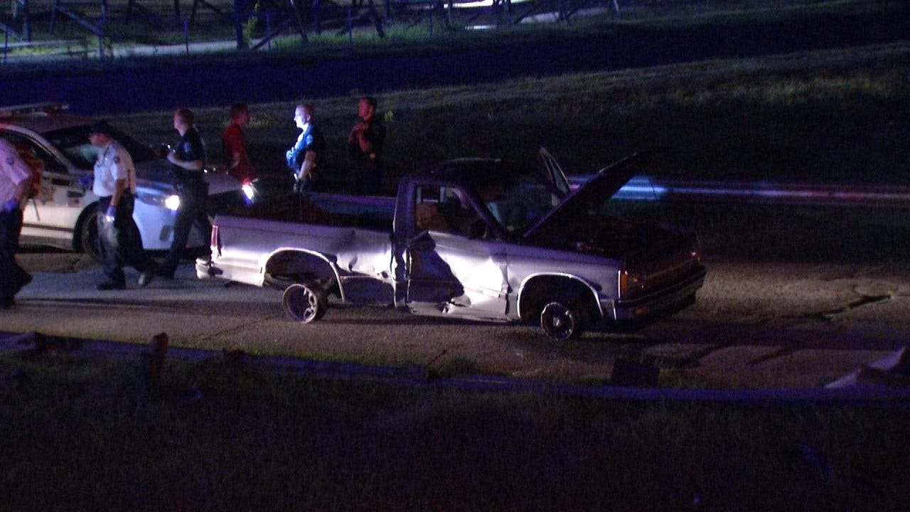 Police: Spike Strips Used To End Tulsa Police Chase