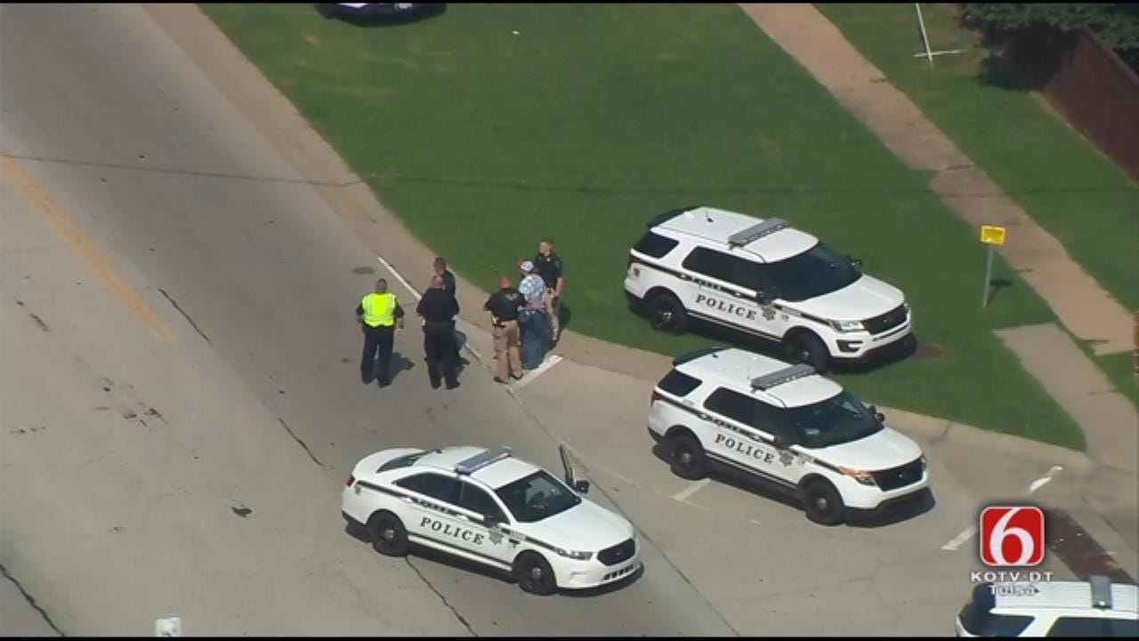 Chase With Stolen Pickup Ends With Crash In Broken Arrow