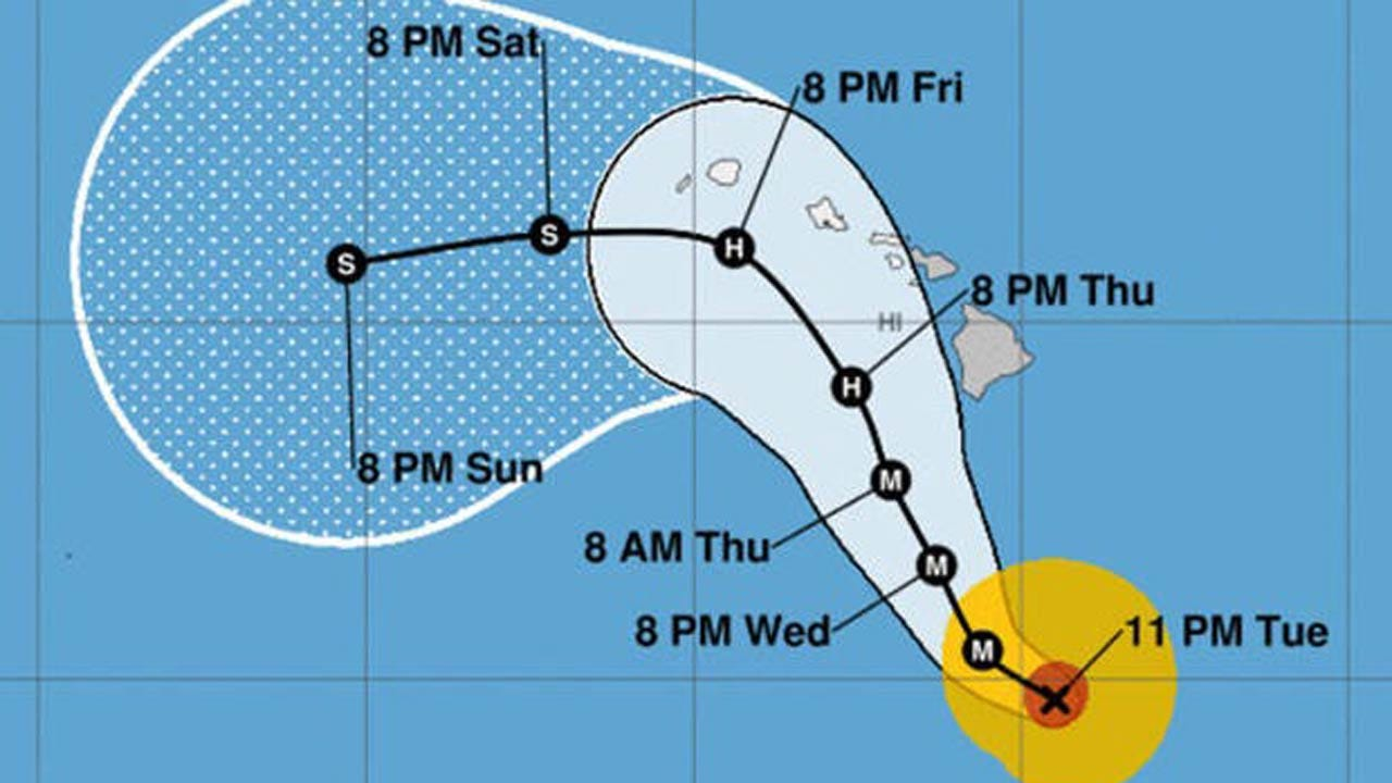 Monster Category 5 Storm Targeting Hawaii