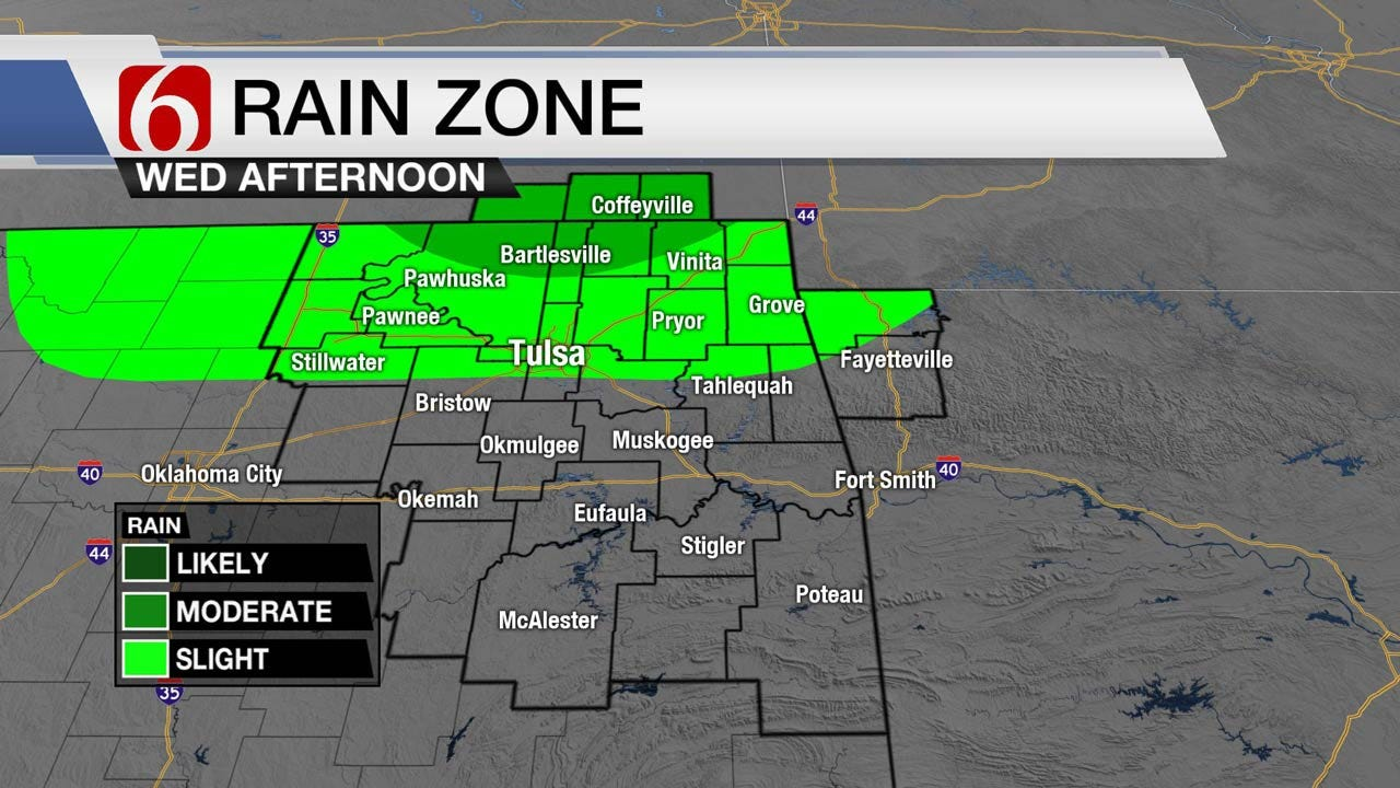 Showers Possible Today Across Oklahoma