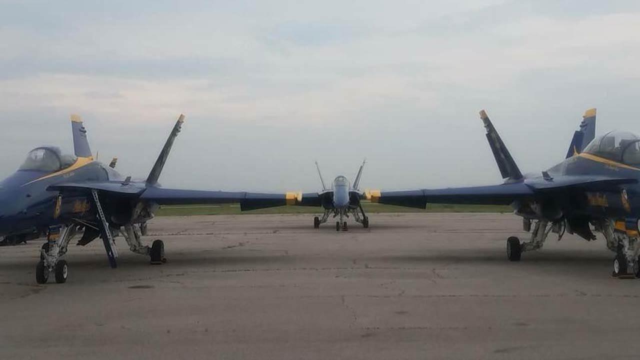 Blue Angels Make Unannounced Visit To Tulsa