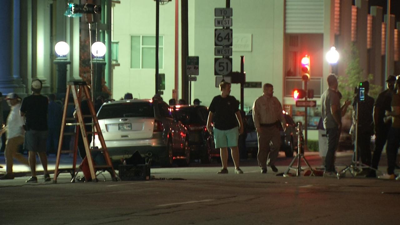 Hollywood Movie Shoot Takes Over Several Tulsa Streets Early Friday