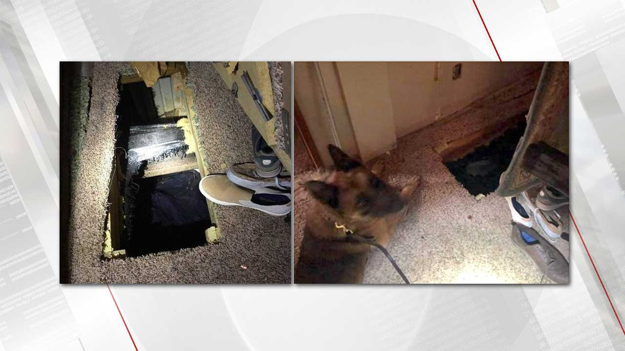 K-9 Finds Man Hiding In Wagoner County Crawl Space, Sheriff Says