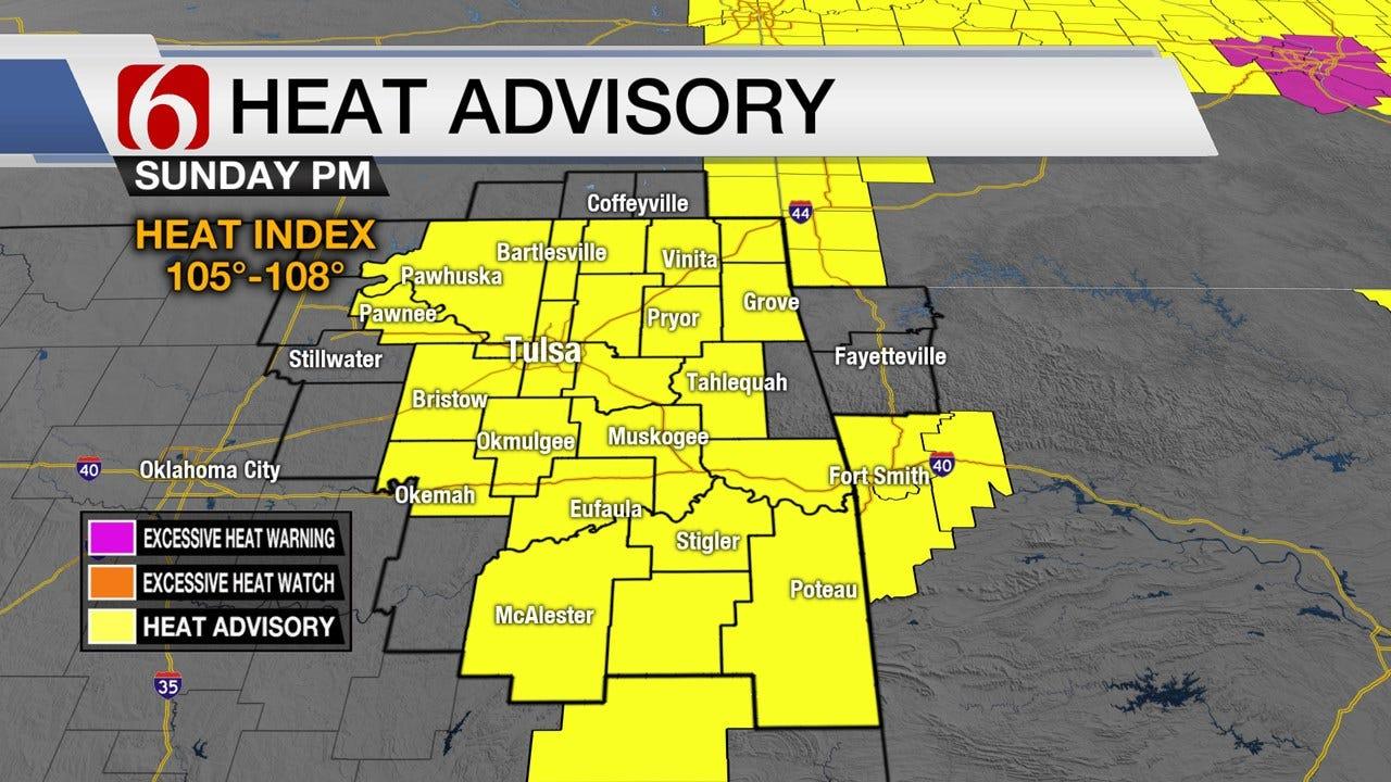 Sunday Heat Advisory Across Green Country