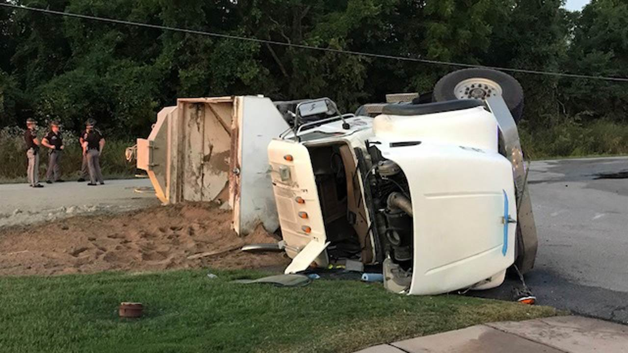 Sand Truck Crash Closes Rogers Co. Road East Of Highway 169