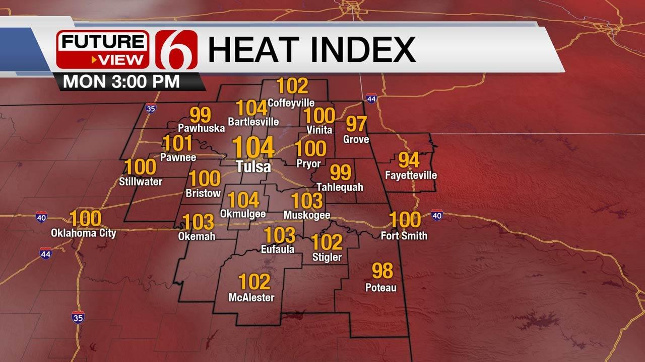 Steamy Monday Across Eastern Oklahoma