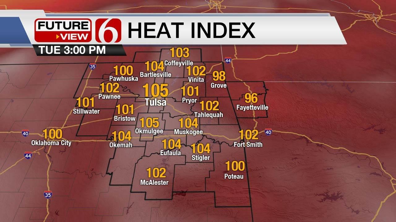 Tuesday Heat, But Eastern Oklahoma Storms On The Horizon