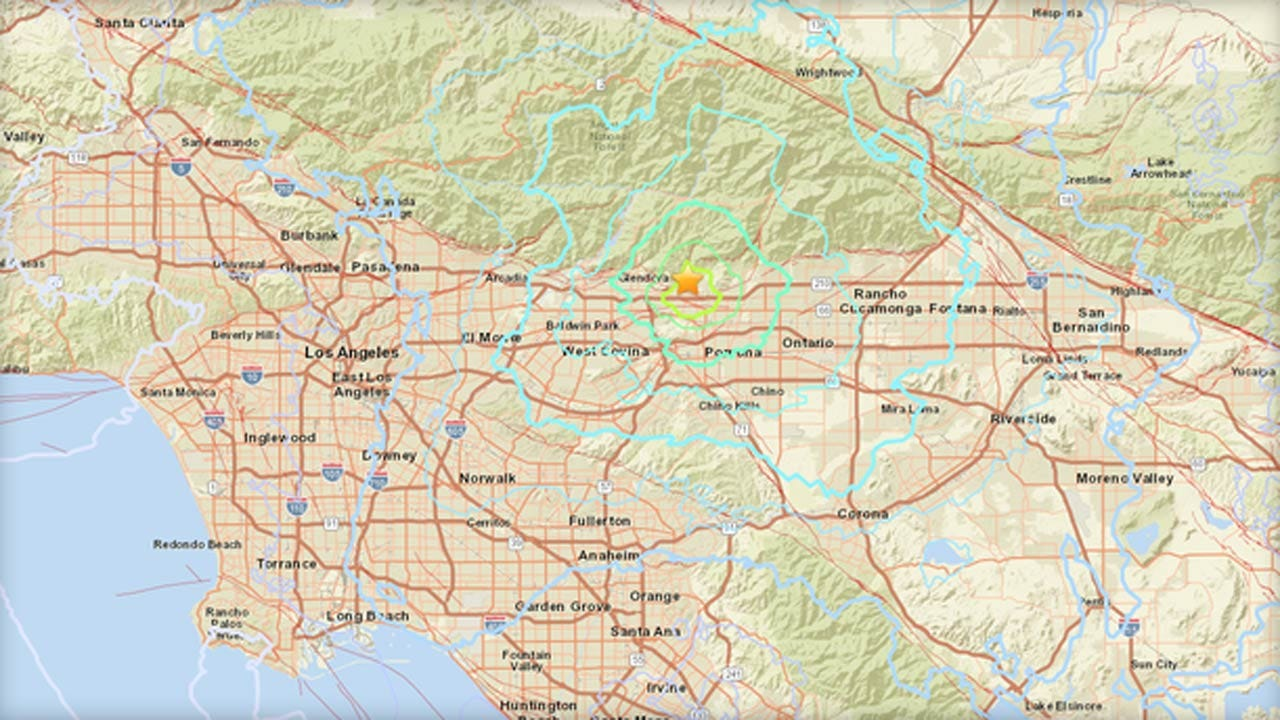 Earthquake Shakes Southern California, Near Los Angeles