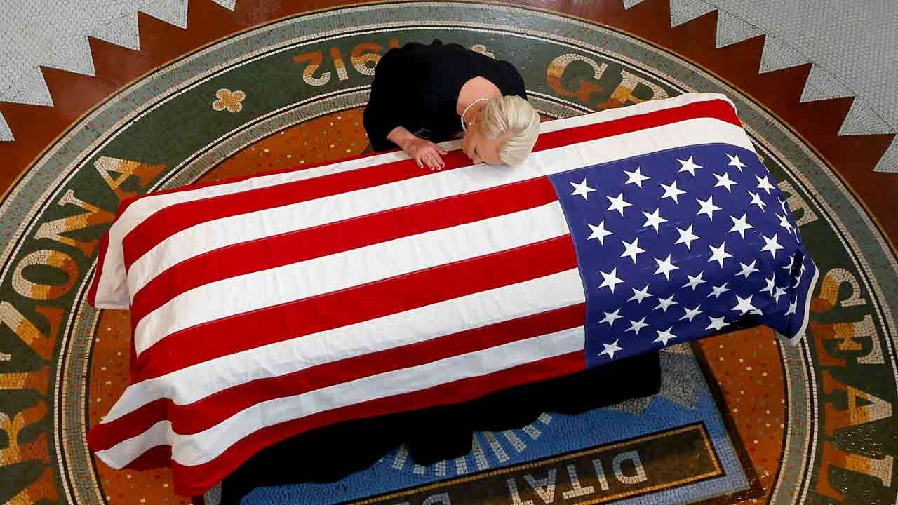 John McCain Lies In State At Arizona Capitol