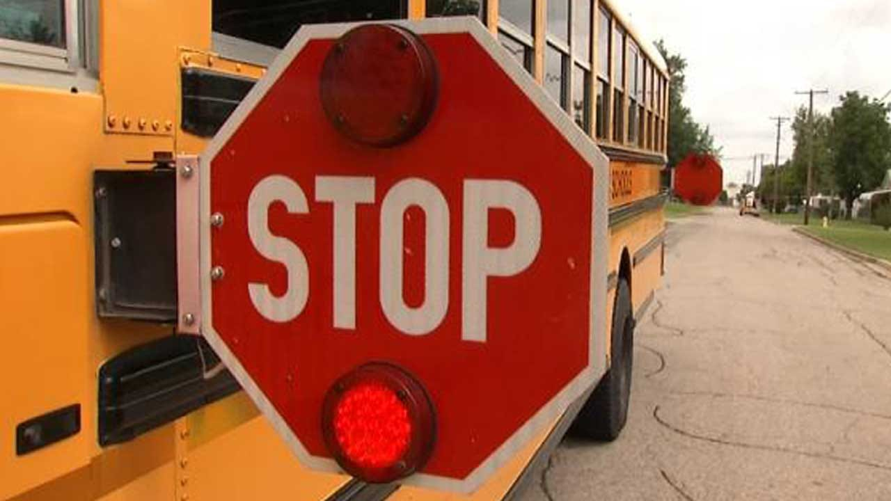 Police: No One Injured When Pickup Hits Muskogee School Bus