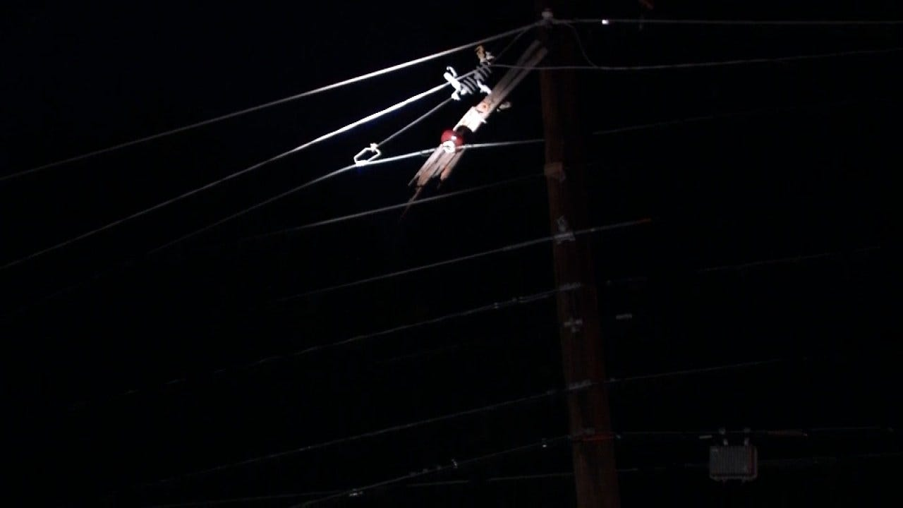 Tree Falls On Pole Knocking Off Power To Tulsa Neighborhood