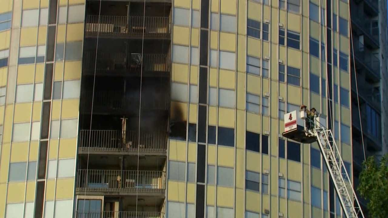 Apartment In Tulsa's University Club Tower Destroyed By Fire