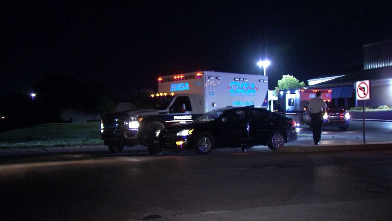 Tulsa Police: EMSA Ambulance Hits Car