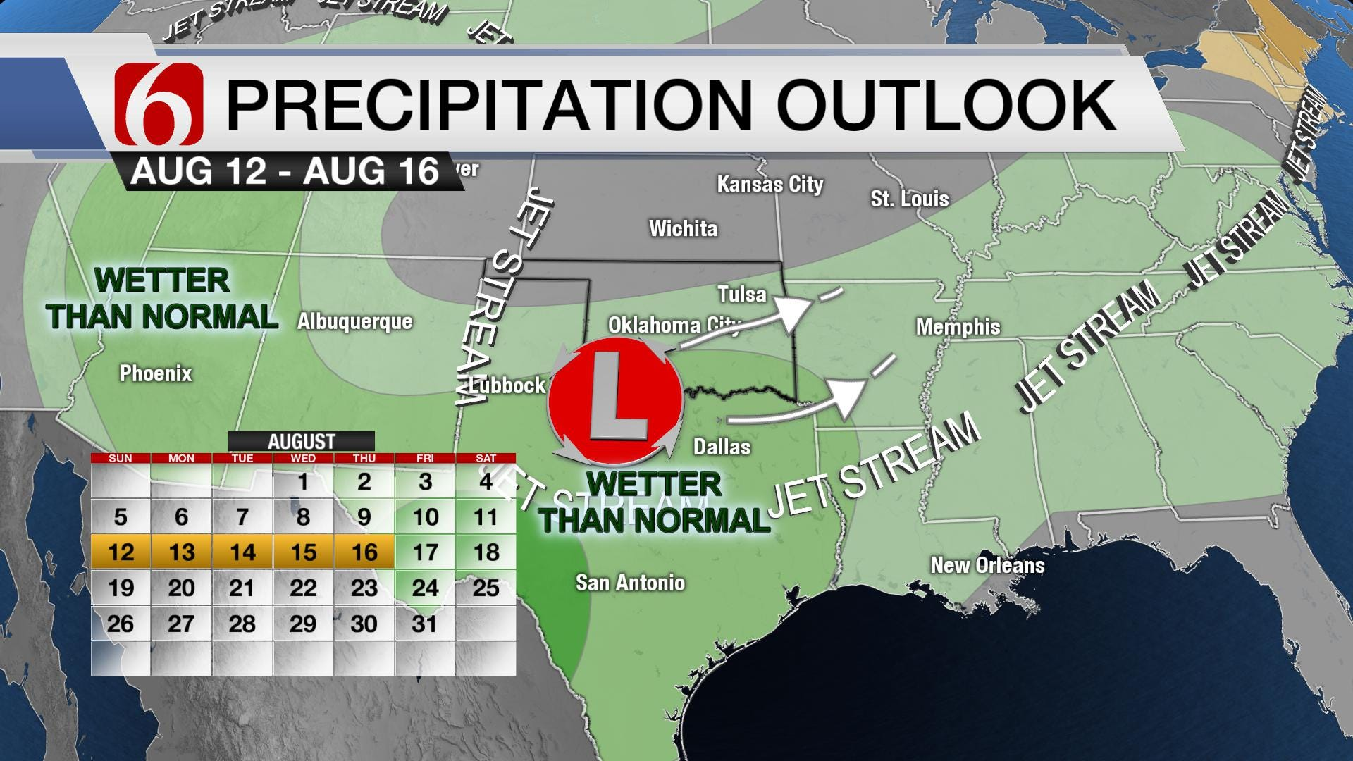 August Turning Unsettled for Oklahoma