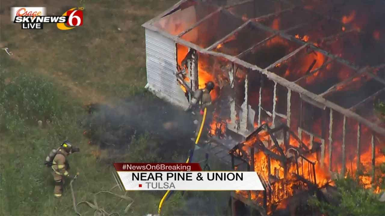 Crews Knock Down Building Fire Near Downtown Tulsa