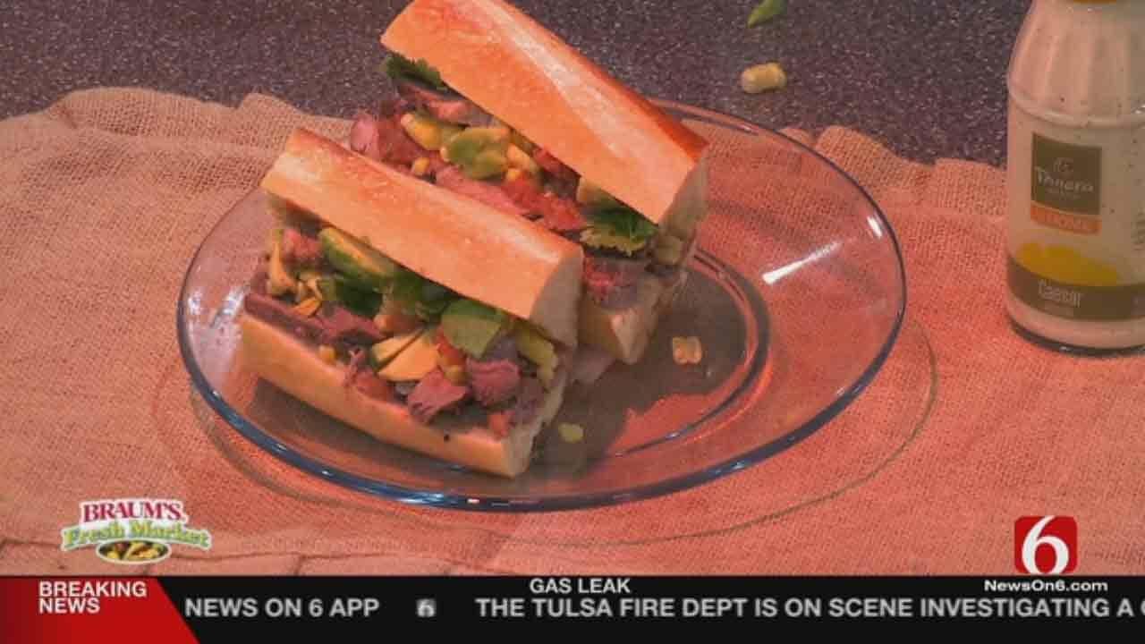 Steak Sandwich With Corn Salsa