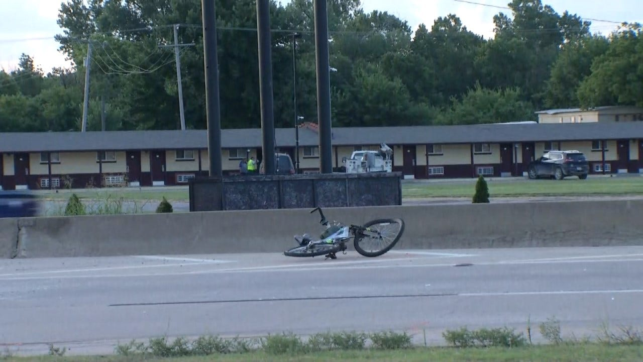 Bicyclist Killed After Being Hit By Truck On Tulsa Highway