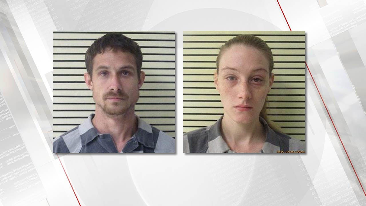 Couple Arrested, Found With Child, Drugs In Stolen Wagoner County Travel Trailer