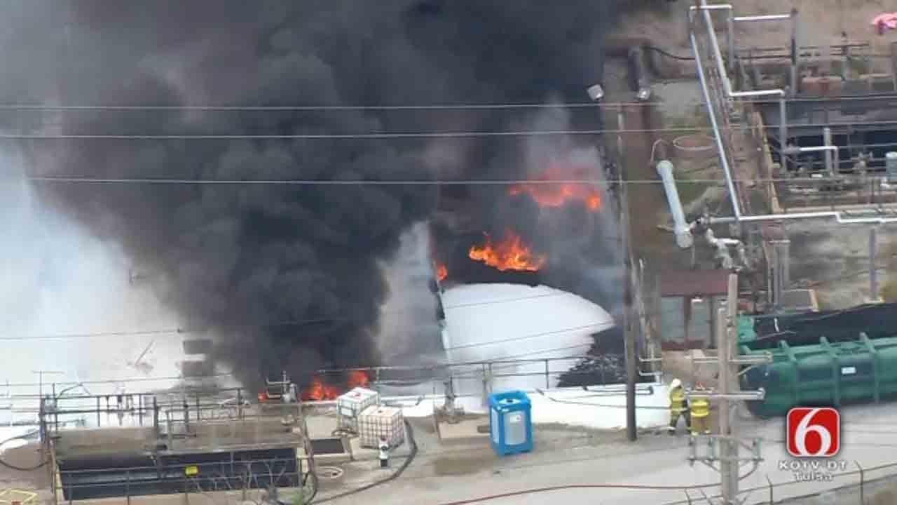 Fire At Holly Refinery Sends Smoke Into Oklahoma Sky