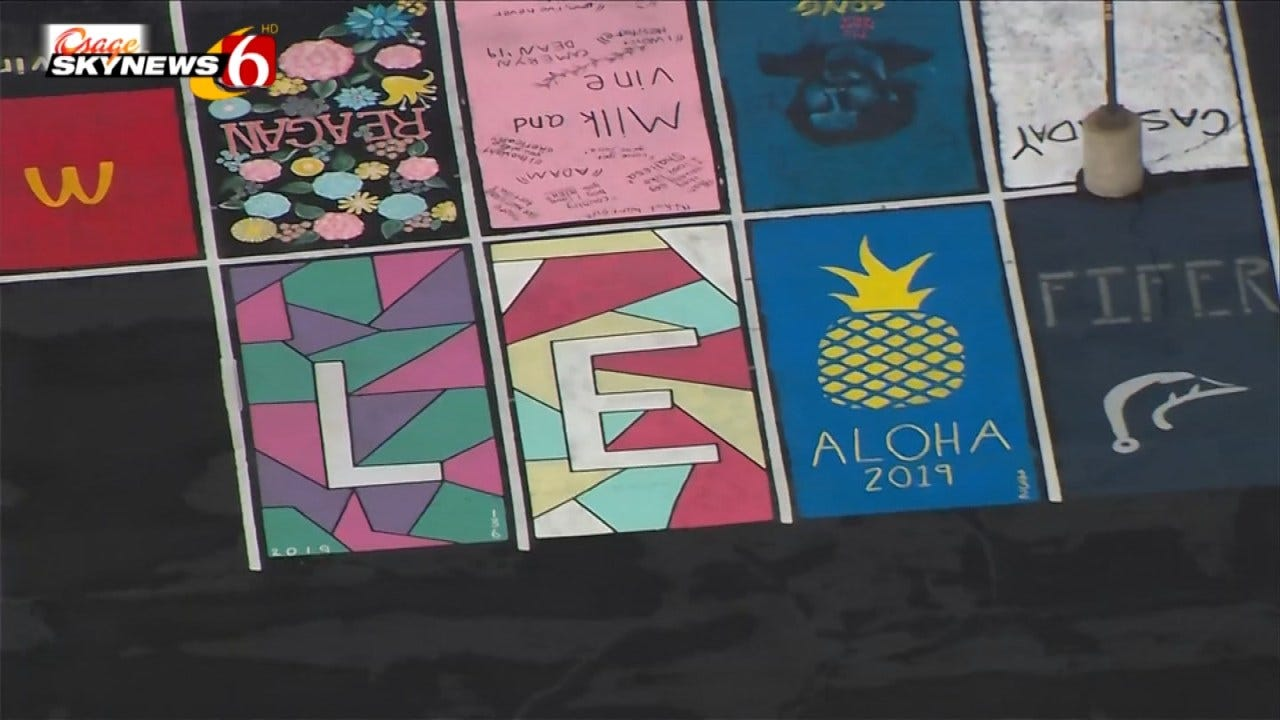 Jenks High Seniors Get Creative Painting Parking Spaces