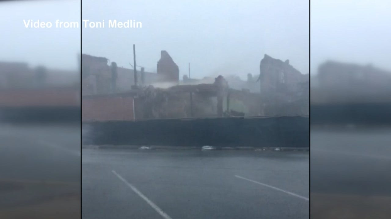 Wagoner Wall Knocked Down By Wind A 'Blessing In Disguise'