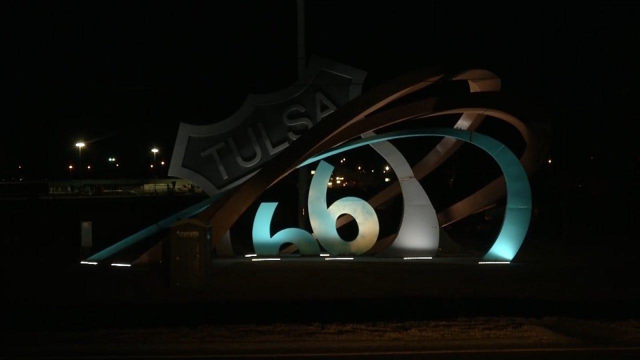 Route 66 Sculpture Opens in Tulsa