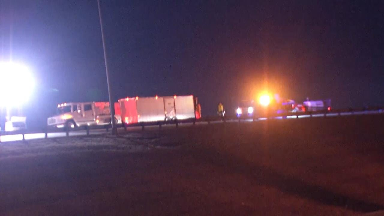 Tulsa Highway Ramp Reopens After Tuesday Truck Crash