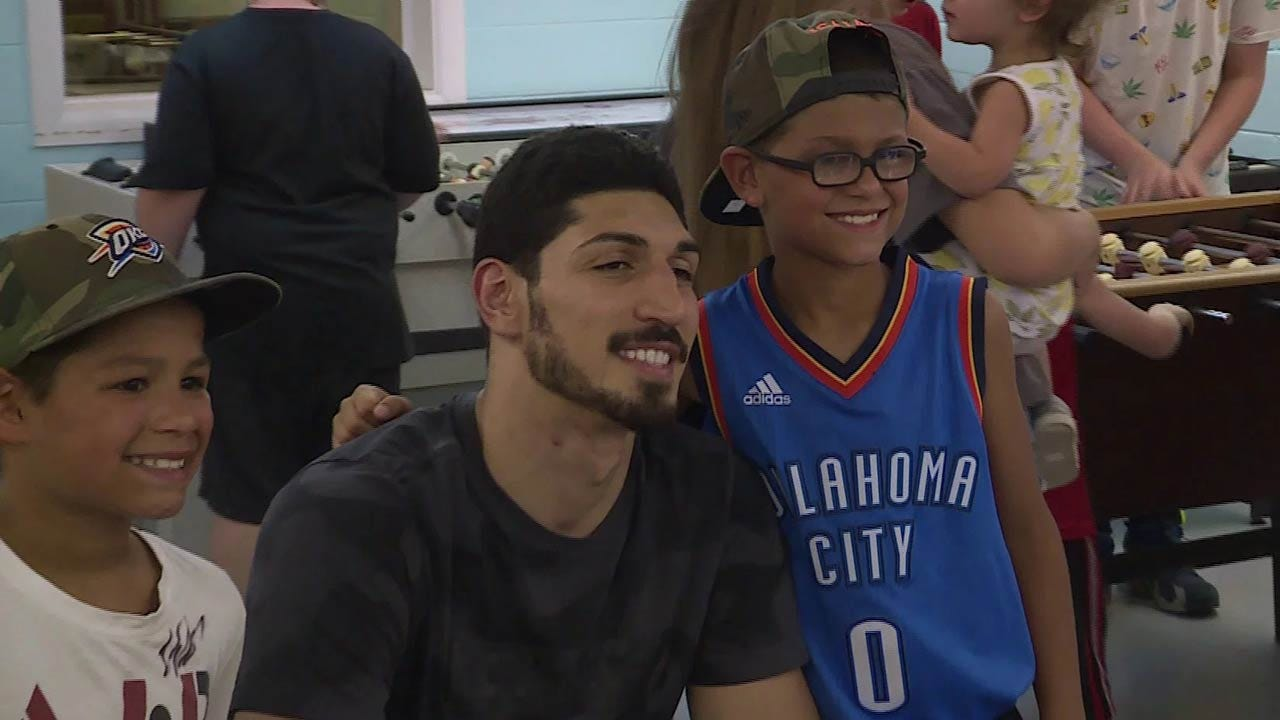 Enes Kanter Visits LeFlore County Boys And Girls Club