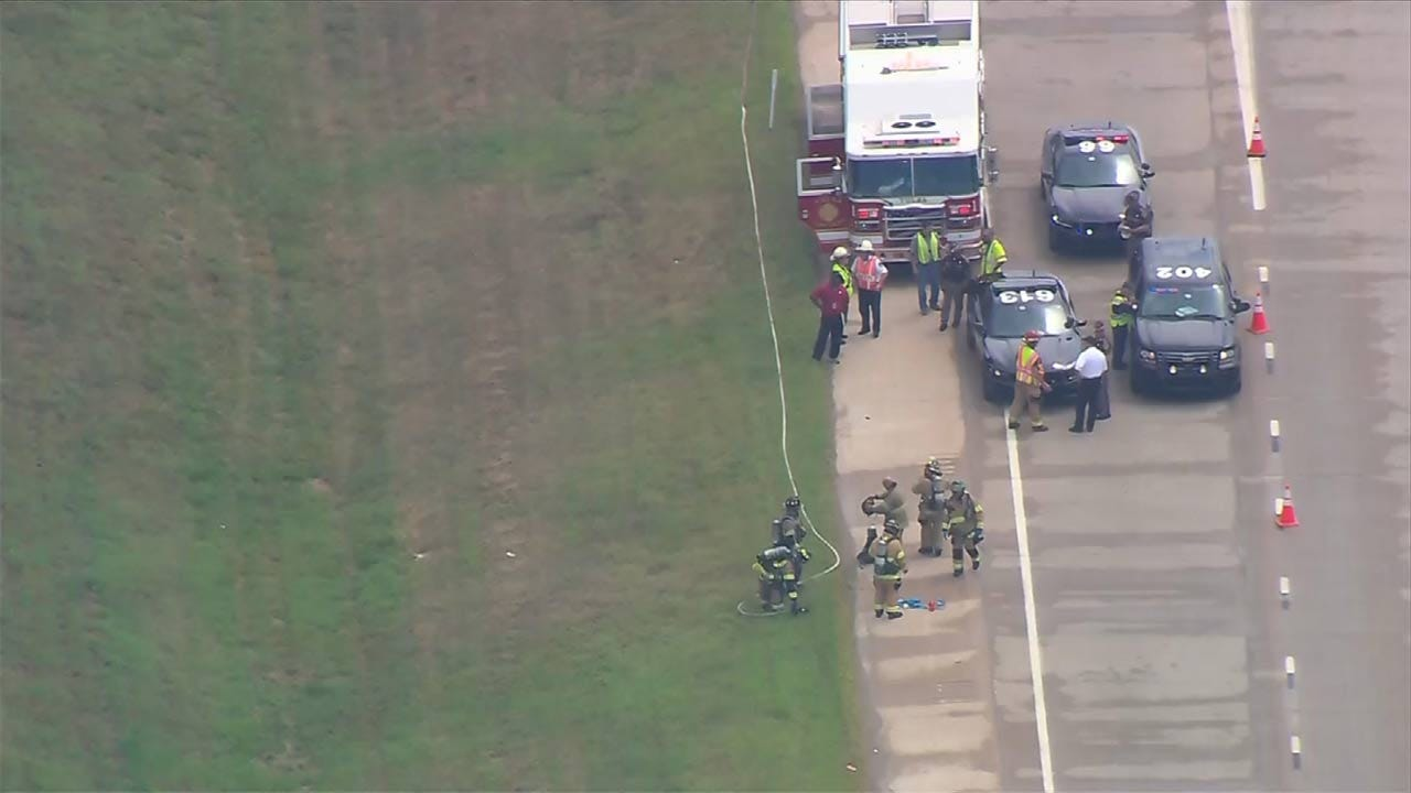 Chemical Spill Contained On Broken Arrow Highway