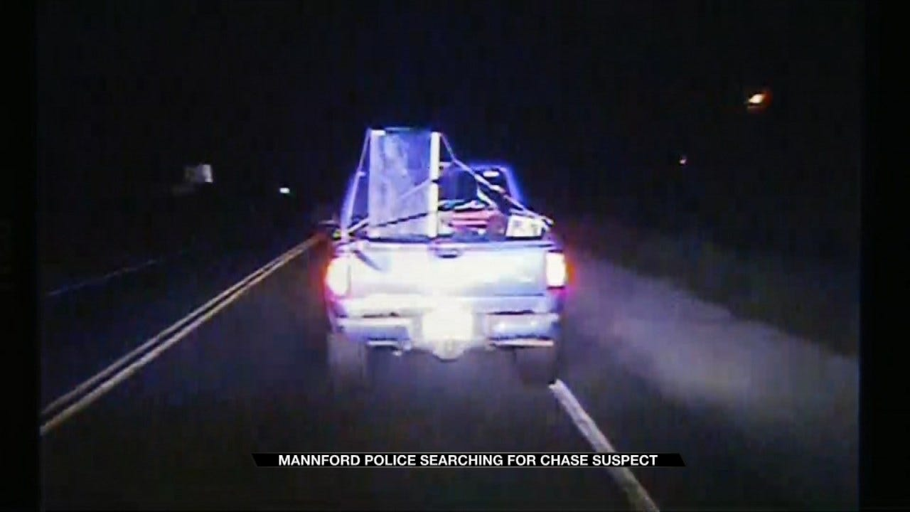 Dashcam Shows Mannford Chase Suspect Trying To Run Over Officer